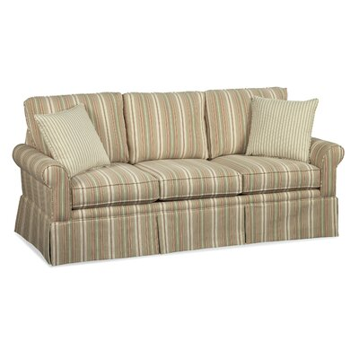 Eastwick Queen Sofa with Air Dream Sleeper Upholstery: White and Ivory Textured Plain; 0377-93