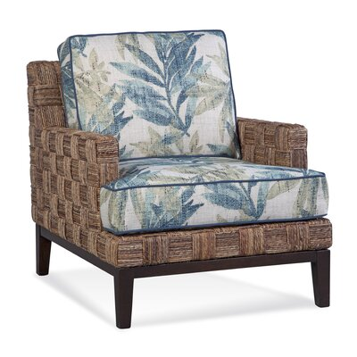 Abaco Island Armchair Upholstery: Green and Blue Textured Plain; 0805-54