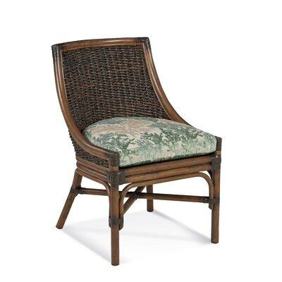 Coconut Grove Side Chair Upholstery: Green and Blue Textured Plain; 0863-53
