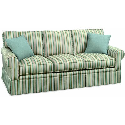 Benton Queen Sleeper with Air Dream Upholstery: Green and Blue Chevron; 0307-54
