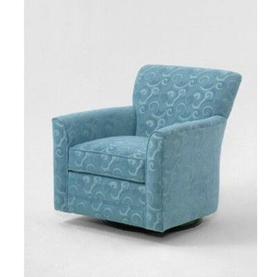 Buckley Swivel Armchair Upholstery: Green and Blue Stripe; 0216-53