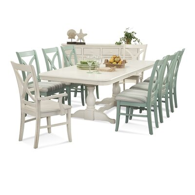 Hues Dining Table Color: White