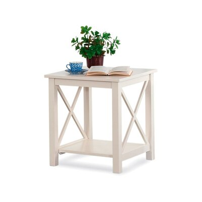 Compass End Table Color: Apple Red