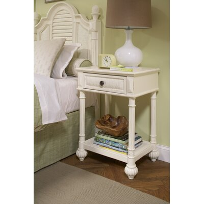 Island Manor Nightstand Color: Black