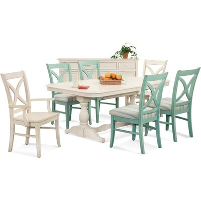 Hues Dining Chair Upholstery Color: Seamist