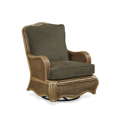 Shorewood Swivel Glider Chair Color: Green