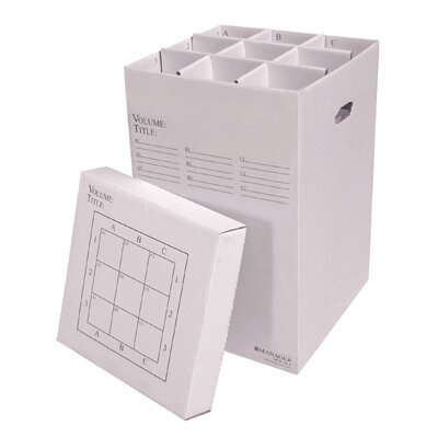 9 Slot Rolled Filing Box Size: 25