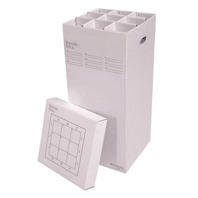 9 Slot Rolled Filing Box Size: 37