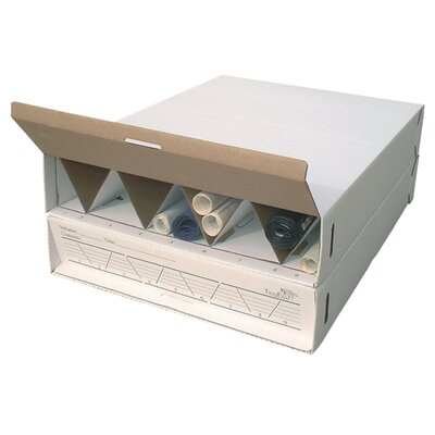 Modular Stackable Roll Filing Box Size: 6.5