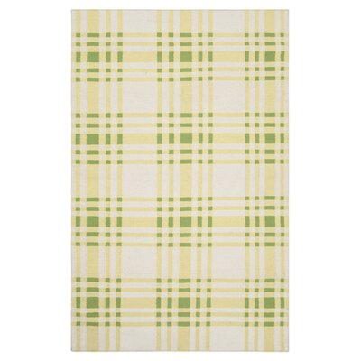 Happy Cottage Yellow Plaid Area Rug Rug Size: 8 x 11