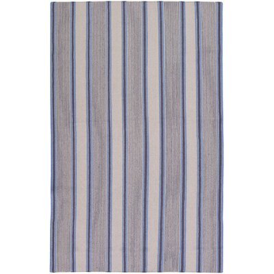 Farmhouse Stripes Navy/Blue Area Rug Rug Size: 5 x 8