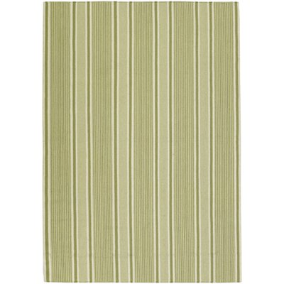 Farmhouse Stripes Green Area Rug Rug Size: Rectangle 36 x 56