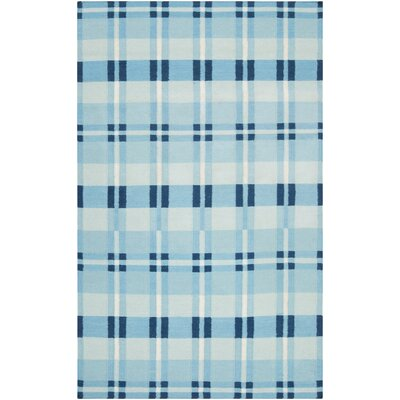 Happy Cottage Blue Haze Area Rug Rug Size: 36 x 56
