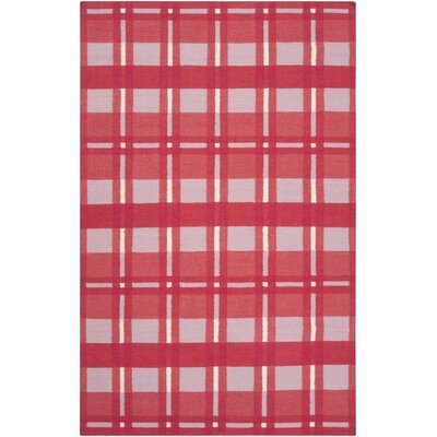 Happy Cottage Hot Red Plaid Area Rug Rug Size: 8 x 11