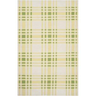 Happy Cottage Yellow Plaid Area Rug Rug Size: Rectangle 5 x 8
