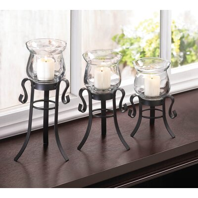 Zingz & Thingz 3 Piece Allure Candle Stand Trio Set 57071958