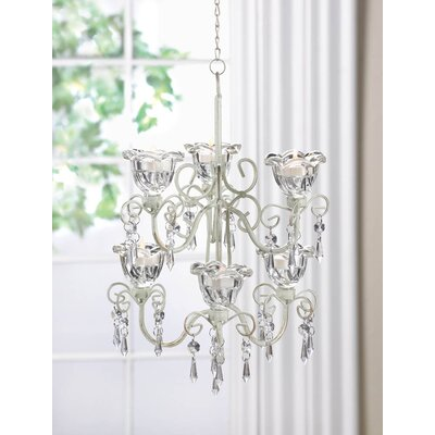 Blooms 6-Light Crystal Chandelier