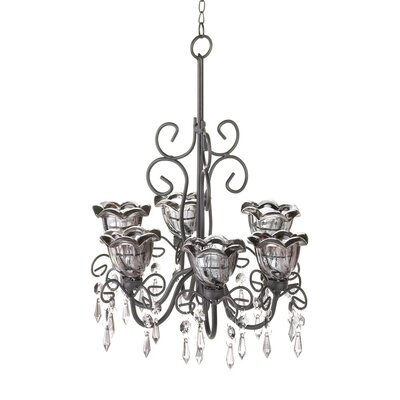 Midnight Blooms 6-Light Shaded Chandelier