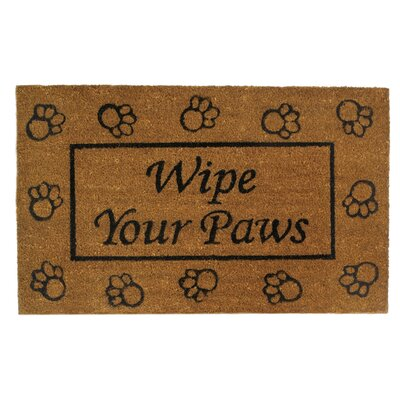 Wipe Your Paws Entry Way Doormat