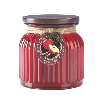 Apple Spice Ribbed Scented Jar Candle 10017238
