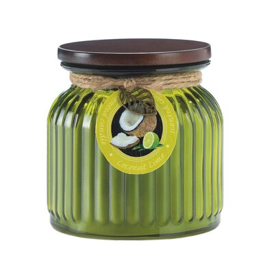 Coconut Ribbed Scenetd Jar Candle 10017242