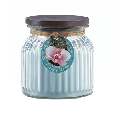 Day at Spa Ribbed Scented Jar Candle 10017241