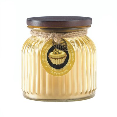 Butter Ribbed Scented Jar Candle 10017239
