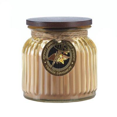 Vanilla Cinnamon Ribbed Scented Jar Candle 10017245