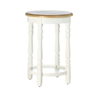 Electra Wood Top Round End Table