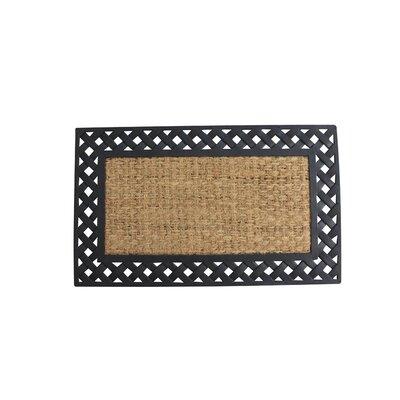 Juliette Basket Weave Border Welcome Doormat