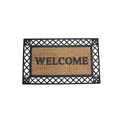 Madelyn Bold Border Welcome Doormat