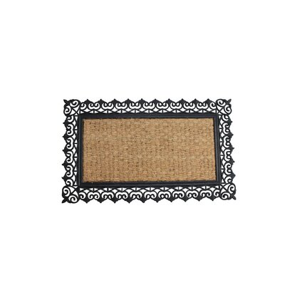 Abdel Scroll Design Border Welcome Doormat