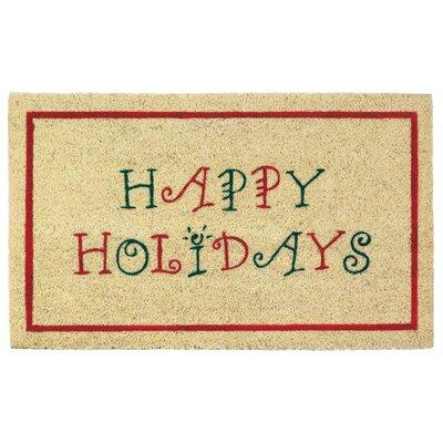 Happy Holidays Welcome Doormat