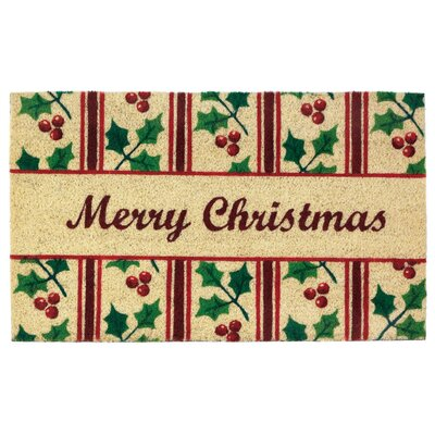 Christmas Holly Welcome Doormat