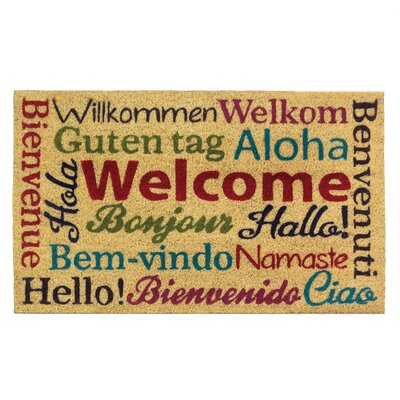 Bonaparte Multi-Lingual Welcome Doormat