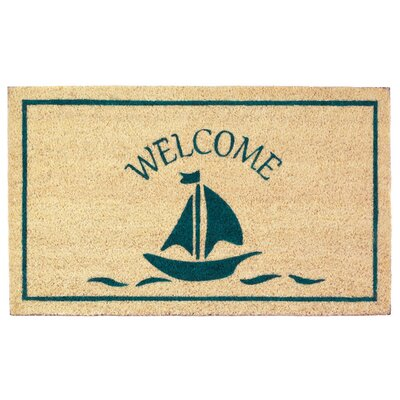 Fulton Sailboat Welcome Doormat
