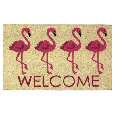 Sinclair Flamingo Welcome Doormat