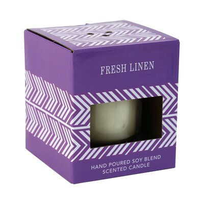 Fresh Linen Scented Pillar Candle EBDG2096 42519906