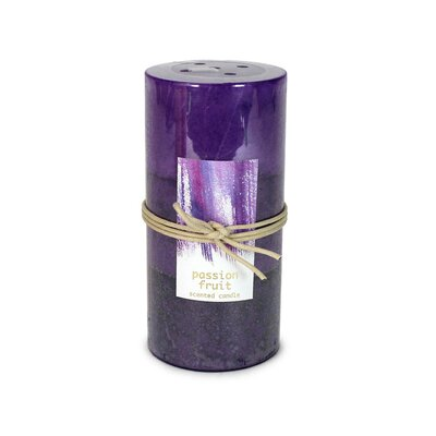 Lemon Sugar Scented Pillar Candle Color: Purple