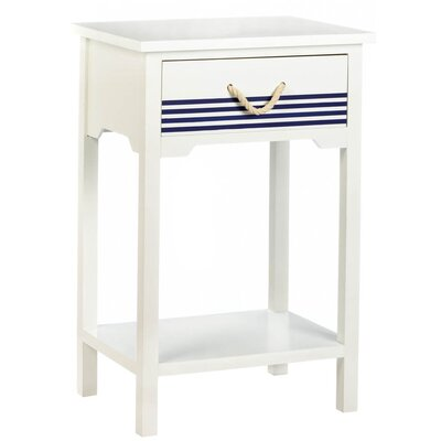 Farley Nautical End Table with Storage