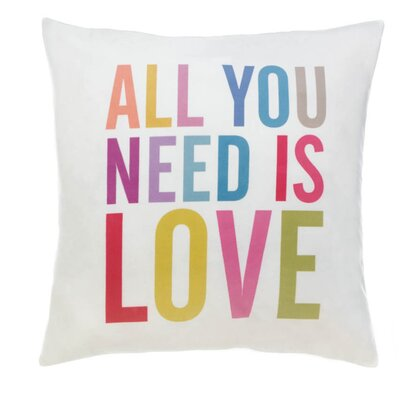 Hawkinsville All You Need Is Love Decorative Throw Pillow