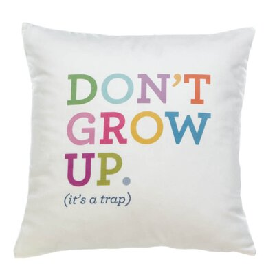 Hawking Dont Grow Up Decorative Throw Pillow