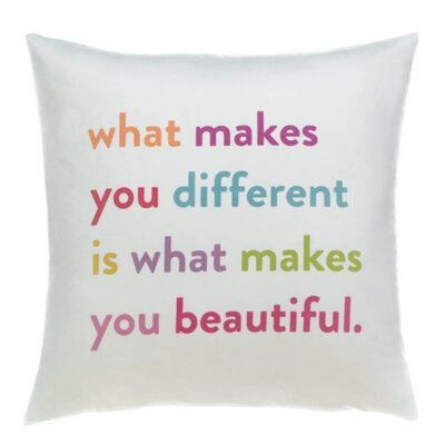 Hawkeye Point You Are Beautiful Decorative Throw Pillow