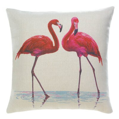 Windermere Flamingo Couple Decorative Pillow Throw Pillow