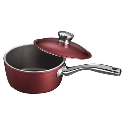 Limited Editions Lyon Sauce Pan with Lid Color: Garnet, Size: 3-qt.
