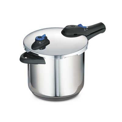 Tramontina Style Stainless Steel Tri-Ply Base Pressure Cooker - Size: 8 quarts at Sears.com
