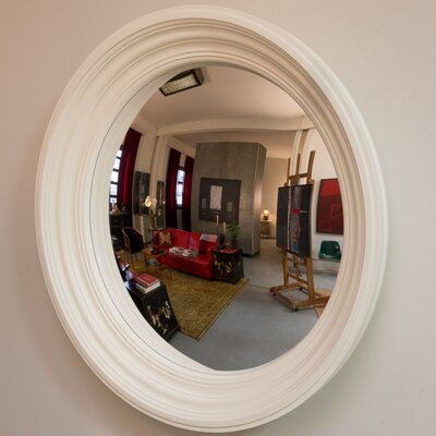 Rohana Flat Wall Mirror Finish: Bone White
