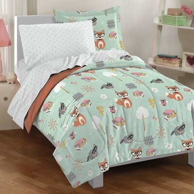 Woodland Friends Mini Twin Bed-In-A-Bag Set