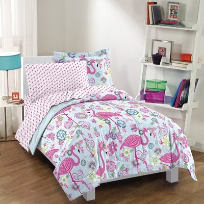 Flamingo Comforter Set Size: Twin