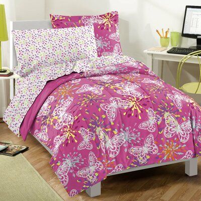 Butterfly Party Bed-In-A-Bag Set Size: Full